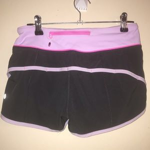 LULULEMON athletica shorts pink/purple 2